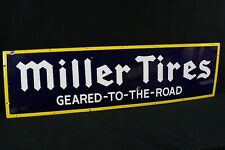 Porcelain Miller Tires Geared To The Road Sign Lot 342
