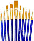 ROYAL LANGNICKEL -SVP2- 10 BRUSHES PACK - IDEAL FOR WATERCOLOUR, OIL AND ACRYLIC
