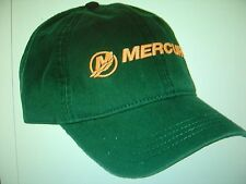 """MERCURY OUTBOARDS PARTS """"NEW"""" """"FOREST GREEN AND ORANGE"""" """"MERCURY"""" CAP HAT"""