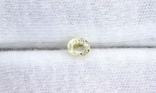 ONE 5x4 5mm x 4mm Oval Yellow White Sapphire Gem Stone Gemstone CLOSEOUT EBS1982