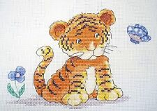KL50 Toto, the little Tiger Counted Cross Stitch Kit by Genny Haines