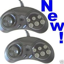 Pair of 6 button controllers for Sega Megadrive/Master System 2 control pads NEW