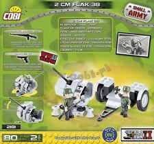 COBI WW2 2cm FLAK 38 80 pieces blocks world war II German 2181 bricks blocks