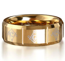 Bahamut tungsten high-end men's British gentleman godfather gold ring Bt71