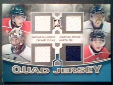 AUTHENTIC QUAD PIECES FROM HALIFAX MOOSEHEADS STARS GAME-USED JERSEYS /40  SP
