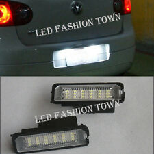 2x Error Free LED License Plate Light Canbus For Volkswagen VW Golf GTi MK4 MK5