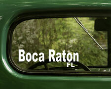 Boca Raton Florida Decal Sticker (2) for Car, Trucks, Laptop