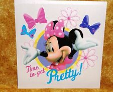 Minnie Mouse,Time to get Pretty, Edible Rice Paper,Cake Tattoo,Disney,DecoPac,