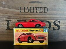 Matchbox Superfast nº 75a-3. very rare versión Near Mint G-box excellent 1970