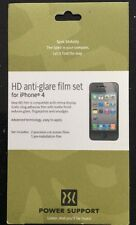 Power Support HD Anti- Glare Film Set for iPhone 4