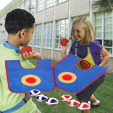 TWO PLAYER TARGET SHOT DODGEBALL INDOOR OR OUTDOOR TOY VELCRO PARTY GAME (SR30)
