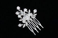 Bridal Wedding Crystal Rhinestone Tiara Side Comb VC23