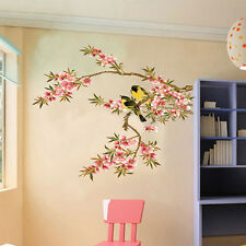 Removable Flower Tree Birds Wall Stickers Home Art Decor Kitchen DIY PVC Decals