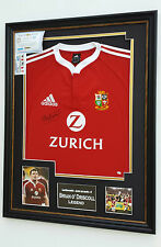 ** Rare BRIAN O' DRISCOLL SIGNED British Lions SHIRT Display **