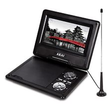 AKAI 7INCH PORTABLE DVD PLAYER WITH DVB-T RECEIVER SWIVEL SCREEN REMOTE CONTROL