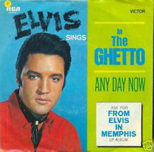 ELVIS PRESLEY 45 TOURS GERMANY IN THE GHETTO