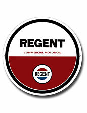"REGENT COMMERCIAL MOTOR OIL 11"" INCHES ROUND METAL SIGN.GARAGE METAL SIGN."