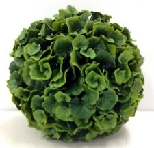 "PVC Galax Leaf Kissing Ball/Orb. Green. 10"". Great for: Basket, Arrangement, etc"