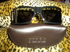 NEW GENUINE * FERRE * BLACK WRAP ROUND,LOGO 'F' SIDE DIAMONTE DETAIL SUNGLASSES