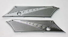CHROME-E-O Harley Davidson Saddlebag Latch Hinge Face Plate Covers 1993-2013