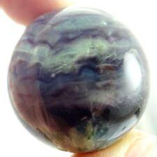 Natural fluorite Quartz Crystal Sphere Ball Healing Gemstone+Stand 73g  O10