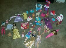 barbie mixed lot xray vet massage table furniture clothes pets dogs Kelly kayak