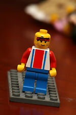 LEGO - Soccer Player Red & Blue Team #3 on Back
