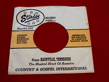 "STARDAY RECORDS ~ VINTAGE ORIGINAL ~ RECORD COMPANY SLEEVE ~ 7"" SINGLE 45 RPM"