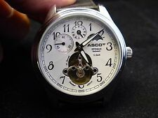 ASCOT Automatic watch amazing face moon phase
