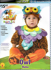 Plush Rubie's Noah's Ark Collection Owl Halloween Costume - Infant 0-6 MOS - New