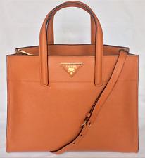 AUTHENTIC PRADA BN2606 SAFFIANO SOFT BAG, PURSE SHOPPING TOTE LUXURY PAPAYA