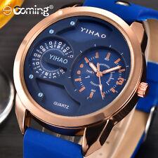 Fashion Men Sport Watches Stainless Steel Women Analog Quartz Luxury Watch BU