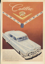 POST CARD WITH AN ADVERTISEMENT FROM A MAGAZINE CADILLAC