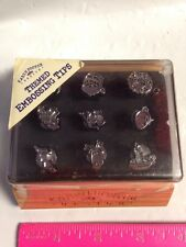Karen Foster 03002 CHRISTMAS Embossing Tips Factory Sealed 9 pc Set Clikit Tool