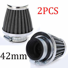 2x 42mm Air Filter Pod Motorcycle Scooter Dirt Quad Street Racing Bike Suzuki