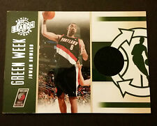 Juwan Howard Trail Blazers Michigan 2011 Panini Green Week Jersey Certified JG4