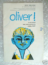 New Theatre Programme OLIVER- Bruce Prochnik,John Bluthal,Georgia Brown