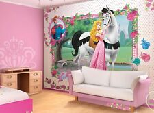 Gigante mural de pared de fondo de pantalla para Girl's room Disney Princess Pink Decoración Caballo