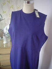 M&S DRESS SIZE 22 WITH STRETCH RICH BLUE WEDDING MOTHER OF THE BRIDE NEW £29.50