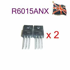 2 x Lots  R6015ANX. 600V 15A Mosfet Rohm TNPA5390.Panasonic PSU repair UK Stock