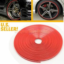HIGH QUALITY KDM WHEEL RIM COVER GUARD ADHESIVE TAPE ROLL FOR CAR/BIKE STRIP RED