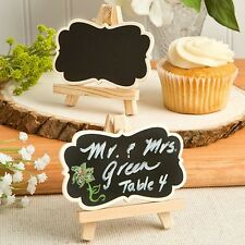 1 Natural Wood Easel Chalkboard Place Card Holder Wedding Favor Blackboard Gift