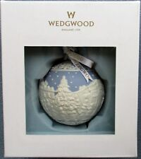 Wedgwood Blue Jasperware  Christmas Carol Singers Ball Ornament New in Box