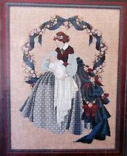 VICTORIAN LADY Holding Baby Under Flowered Arch Counted Cross Stitch Chart