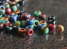 7/0 Matubo Mix Opaque Picasso Seed Beads Red Blue Yellow Turquoise Jet 10 Grams