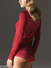 WOLFORD CLAIR PULLOVER TOP 55554, SMALL, in red (pompei 3061), new in box