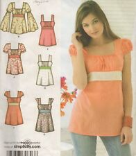 NEW Women's BOHO Hippie Style Tunic Top Blouse Sewing Pattern UNCUT Summer Tank