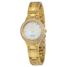 Citizen Silhouette Crystal Champagne Dial Gold Stainless Steel Quartz Ladies