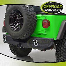 """Rock Crawler Rear Bumper With 2"""" Hitch Receiver for 87-06 Jeep Wrangler YJ TJ"""