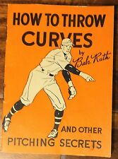 "Rare BABE RUTH  1934 Quaker Oats Baseball Book   ""How to Throw Curves"""